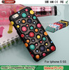 Fancy Stones Phone Case for ip5 Beautiful 3D Stone Leather Cover for iPhone 5 5s Bubble phone shell