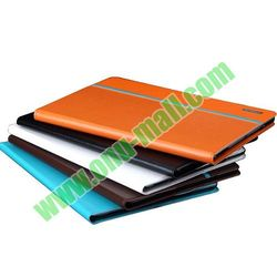 Multi-Angle Rotatable Flip PC and Leather Case for iPad Air