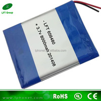 656480 high capacity 3.7v 8000mah battery for mid tablet pc battery replacement