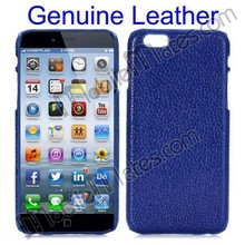 Genuine Leather Mobile Phone Case for iPhone/Samsung/HTC etc, for iPhone 6 Genuine Leather Coated PC Hard Cover Case