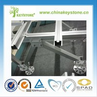 Aluminum Solar Ground Mounting System for Solar PV Panels/PV racking system