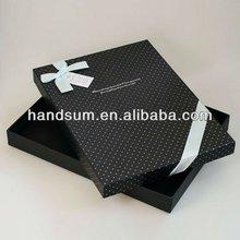 Polka Dot Cardboard Gift Box for Shirt, Matching Ribbon, Shirt Box, Clothes Box,Paper Gift Box, 34.2 x 25.2 x 4cm art.50056