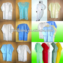 isolation gown with different colours and patterns