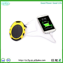 Newest High quality Colorful Water/dirt/shock proof 5000mah Portable Solar Powerbank with two USB Output