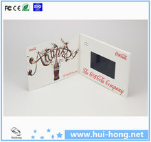 Best promotional gift 2.4',3.5',4.3',5',7',10.1' TFT LCD Video Greeting card, Video brochure ,Video in print