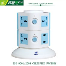 tomacorriente universal multifuncional de 250v 10a y 8 tomas, regleta vertical de energía