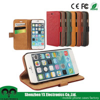 smart stand filp leather mobile phone wallet case for iphone 6