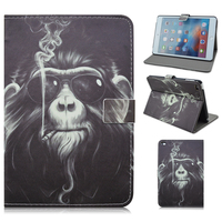 New Design Animal Pattern Stand Flip Case for iPad Mini 4, Leather Tablet Cover Case for iPad Mini 4