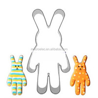 Stainless steel cookie cutter Rabbit, metal baking biscuit cutter