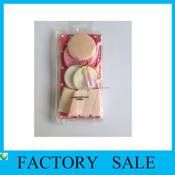 PVC Slided Zipper Plastic Bag with Self Adhesive & Hanger for Cosmetic Sponge