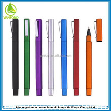 2015 Popular promotional rubber square metal clip ballpoint pen