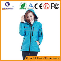 Womens Clothing Winter Body Warmer heated Clothing Outdoor OEM/ODM 4000mAh battery heating resistant ski jacket