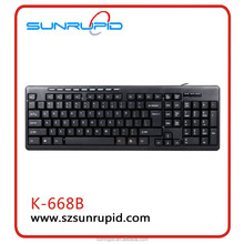 New Multimedia Computer USB Wired Desktop Keyboard for Laptop