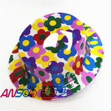 Most popular products plastic color flower star smile flat cap for all knds of parties