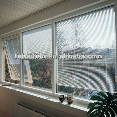 Guangzhou pvc window with built in blinds buy windows for Windows with built in shades