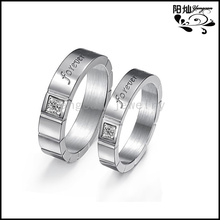 Christmas Stainless Steel Engagement Rings For Men And Women His and Her Meaningful Promise Ring Set
