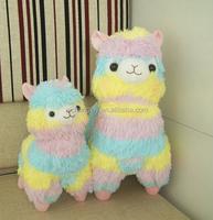 Free shipping 35cm Rainbow Alpaca Plush Toys Adora Doll Japan Alpaca Alpacasso Peluches Animal Sheep Llama Stuffed Toy