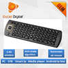 hot sale 6 axis gyroscope 2.4GHz Mini QWERTY Keyboard, anti shake Air Mouse for smart tv tv box