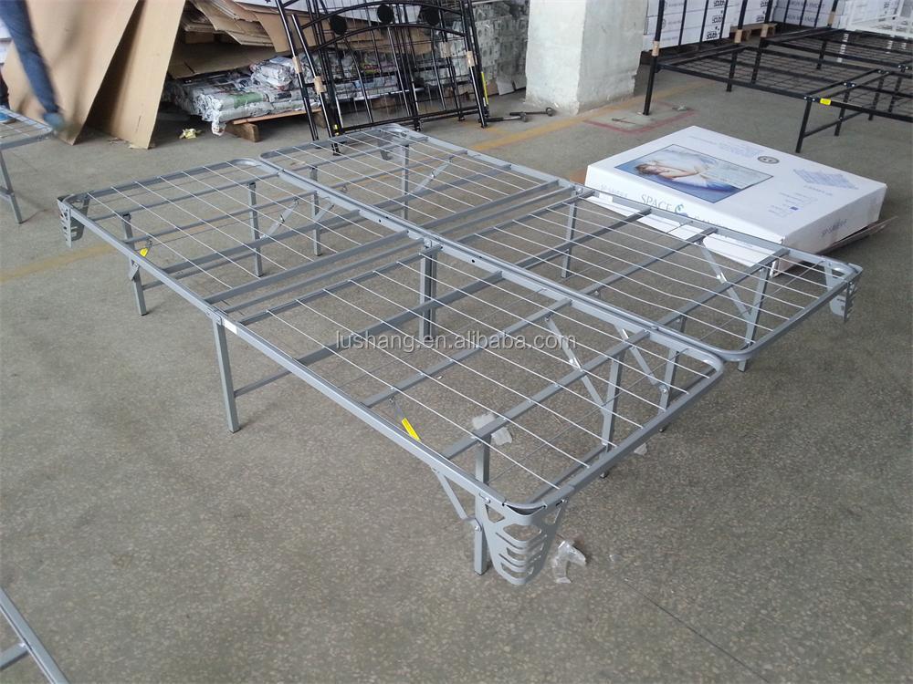 Highrise Folding Metal Bed Frame 14 Quot High Bi Fold Platform