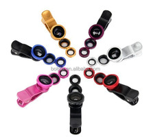 zoom lens for mobile phone Universal Clip lens 3in1 Fish eye Macro Wide Angle Lens for All phones