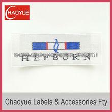 Lavable raso etiqueta tejida para la ropa/fabricante de etiquetas tejidas