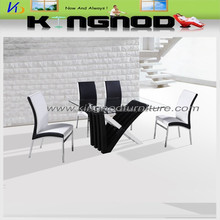 Top tempered glass and MDF high gloss ,modern table