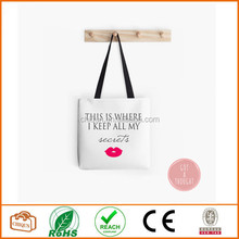 Beach bag, This is where I keep all my secrets tote bag, pink lips lady bag or purse, polyester poplin tote bag, book bag