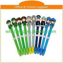 Design Cartoon Polymer Clay Ball Pen For Gifts compact pen