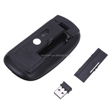 Laptop wireless mouse with rechargeable battery, colorful slim wireless mouse, Black