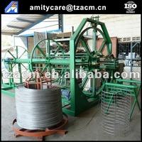 concrete cement drain pipe wire cage welding machine