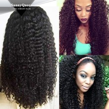 SunnyQueen Hair Lace Wigs Brazilian Virgin Hair full lace wig Kinky Curly Full Lace Wigs for Black Women 8-28 inches in stock