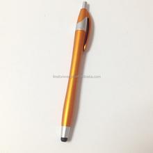 Golden Color Plastic Made Advertising Stylus Pen