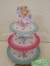 Poppular diseños de papel soporte de la magdalena/pie para pastel de cupcakes