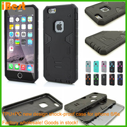 design cell mobile phone pc+tpu case packaging for iphone6s , hard plastic waterproof equipment case