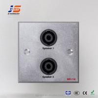 (JS-WP118) brushed or sand blast XLR*2 wall socket outlets