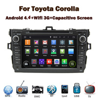 8 inch HD Toyota Corolla Android 4.4 Car DVD Player with Wifi 3G GPS Bluetooth Radio RDS USB IPOD Steering wheel Control