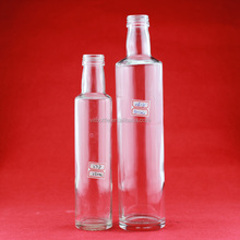 Crystal top quality oil glass bottles clear glass bottles empty glass bottle
