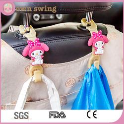 Cute Handy Hooky 2pc Car Seat Headrest Hanger Storage Hooks - Purse Handbag Grocery Bag Holder/Auto Hooks Car Hangers Organizer