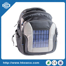 Solar charger backpack with 6.5w/6v solar panel waterproof