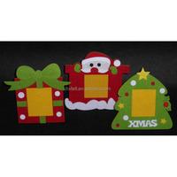 Hot latest design Christmas photo frame made of felt as promotional gift