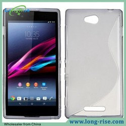 Cheap Price TPU S Line Back Cover Case for Sony Xperia C S39h C2305