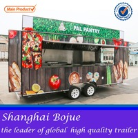 2015 hot sales best quality recreational street food cart multifunctional food cart food cart with 2 wheels
