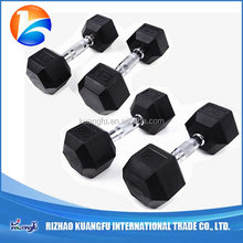 Most popular commercial hex rubber dumbbell for sale