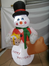 indoor christmas Decoration Inflatable snowman with light