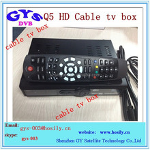 Q5 HD PVR cable tv box Support World Cup Full HD Cable Boxes For Sale