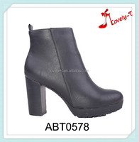 China wholesale women zippet boots high heel sexy safety platform ankle boots