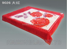 Super soft 2 ply raschel blanket in different size and color