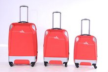 2012 colorful 3 pieces hardside luggage set spinner wheels