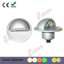 outdoor low voltage ip65 12v 1w color change led stair lighting