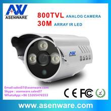 800 TVL Outdoor Bullet Camera Analog IR30m Waterproof led Array 1/3'' CMOS with IR cut(AW-C583)